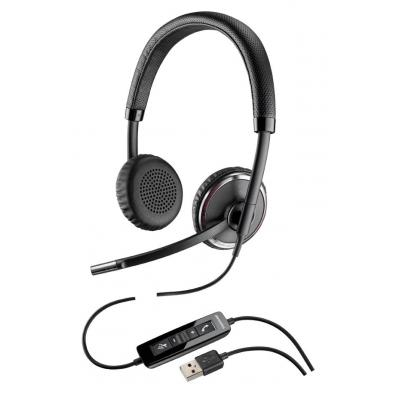 Plantronics headset: Blackwire C520-M (Microsoft)  - Zwart