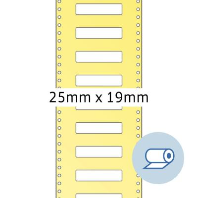 Herma etiket: Roll labels thermotransfer 25x19 mm white paper semigloss 5000 pcs. - Wit
