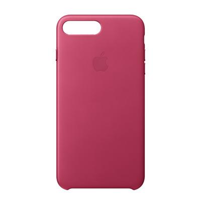 Apple mobile phone case: Leren hoesje voor iPhone 8 Plus/7 Plus - Fuchsiaroze