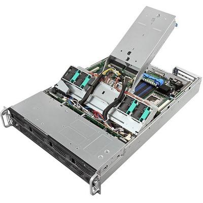 Intel server barebone: Server System R2304LH2HKC - Zwart, Grijs