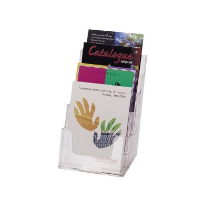 Deflecto folderstandaard: Multi-Compartment Tiered Literature Holder Booklet Size - Transparant