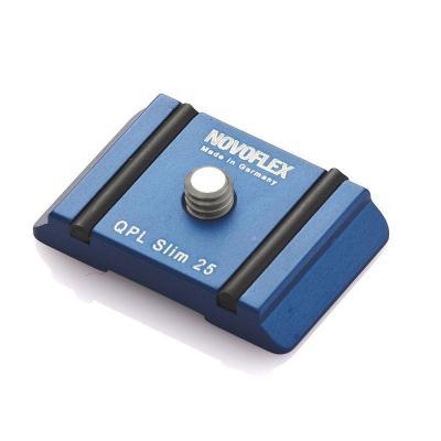 "Novoflex statief accessoire: Camera plate ""Slim"", 25mm - Blauw"