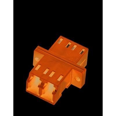 Black Box Fiber Optic Coupling LC/LC Single Mode Duplex Ceramic Fiber optic adapter - Blauw