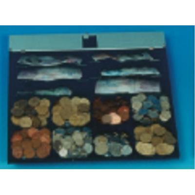 International cash drawer : 8xCoin, 6xNote, Black - Zwart