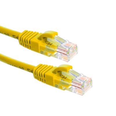 EECONN Cat.6 U/UTP Patchkabel, AWG24, PVC, Geel, 5m Netwerkkabel