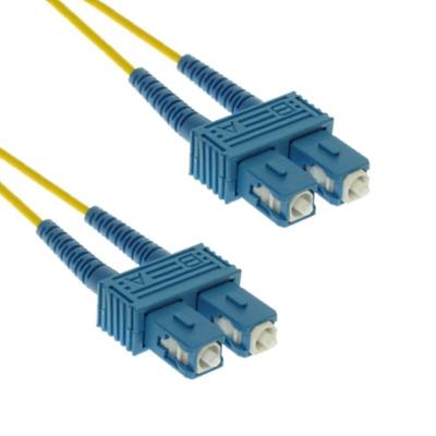 EECONN Glasvezel Patchkabel, 9/125 (OS1), SC - SC, Duplex, 1.5m Fiber optic kabel - Geel