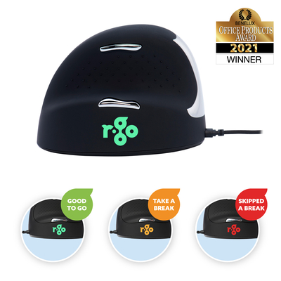 R-Go Tools R-Go HE Break Mouse, Ergonomische, Anti-RSI software, Medium (Handlengte 165-185mm), Linkshandig, .....