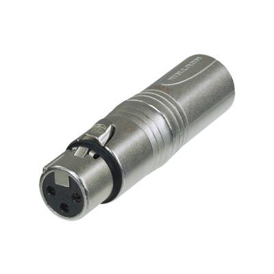 Neutrik NA3F5M Kabel adapter - Grijs