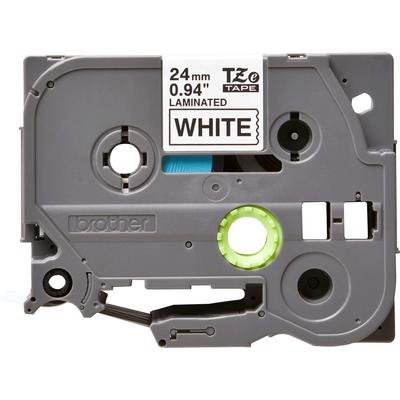 Brother 24 mm zwart op witte tape gelamineerd (8 m) Labelprinter tape