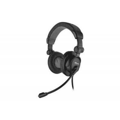 Trust headset: Como Headset - Zwart
