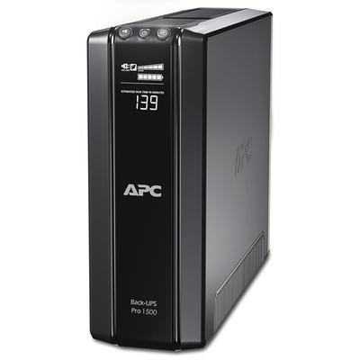 APC Back-Pro BR1500GI Noodstroomvoeding - 1500VA, 10x C13 uitgang, USB, uitbreidbare runtime UPS - Zwart