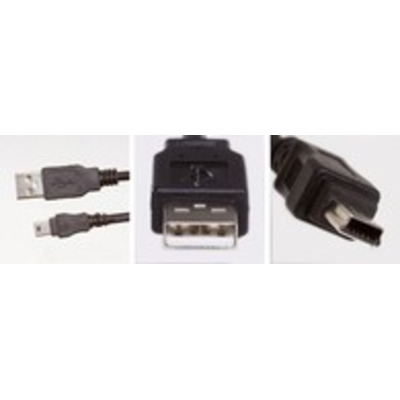 Microconnect USBAMB52 USB kabel - Zwart