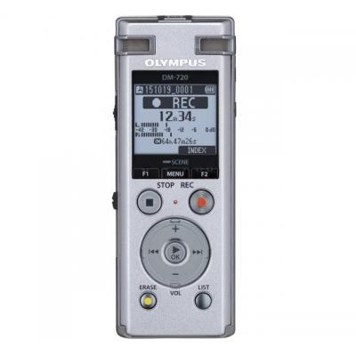 Olympus voice recorder: DM-720 + 2xME-33 - Zilver