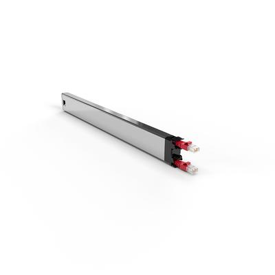 PATCHBOX ® 365 Cat.6a Cassette (UTP, Red, 0.8m / 8RU) Netwerkkabel - Rood