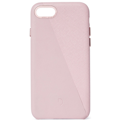 Decoded Dual Leather Backcover iPhone SE (2020) / 8 / 7 - Roze - Roze / Pink Mobile phone case
