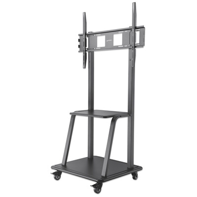 "Manhattan Mobile Monitor Floor Stand, 1 screen, 37-100"", Vesa 200x200 to 800x600mm, Max 150kg, Black ....."