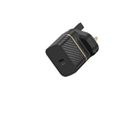 OtterBox UK Wall Charger 18W - 1X USB-C 18W USB-PD, zwart Oplader