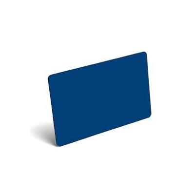 Evolis Rewritable cards, PVC, Blue, 100 Pack Lege plastic kaart - Blauw