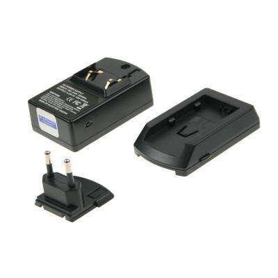 2-power oplader: Battery charger for camcorder, black - Zwart