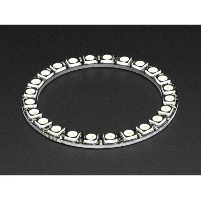 Adafruit decoratieve verlichting: 24x 5050 RGBW LEDs, Natural White, 4500K - Zwart