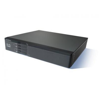 Cisco router: 867VAE - Zwart