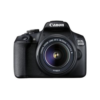 Canon EOS 2000D BK 18-55 IS + SB130 +16GB EU26 Digitale camera - Zwart