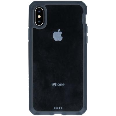ITSKINS Hybrid MKII Backcover iPhone Xs / X - Zwart / Transparant - Zwart / Black Mobile phone case