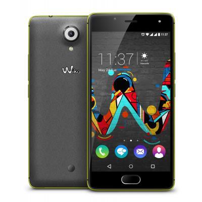 Wiko smartphone: U Feel - Grijs, Limoen