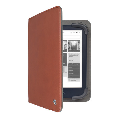 Gecko Universal 6+7 inch E-Reader Stand Cover - Bruin Tablet case