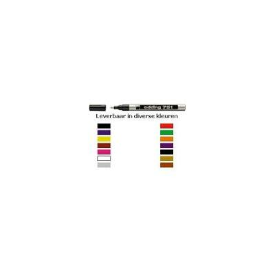 Edding markeerstift: 751 Paint Marker Yellow (10) - Geel