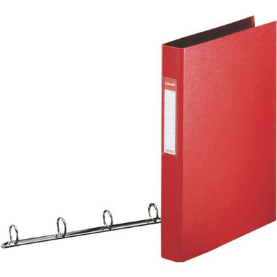 Esselte ringband: Standard Ring Binders , PP Red 4x25 mm - Rood