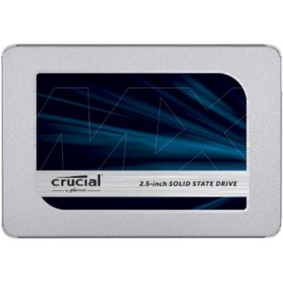 Crucial MX500 SSD - Blauw, Zilver