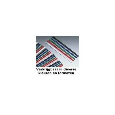 Gbc ringband: CombBind Bindruggen Blauw 6mm (100)