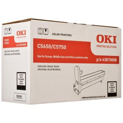 OKI drum: Black image drum for C5650/5750 - Zwart, Zilver