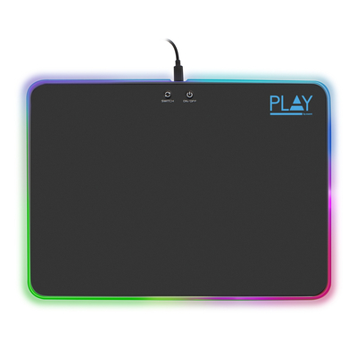 Ewent Gaming met RGB-verlichting Muismat - Zwart