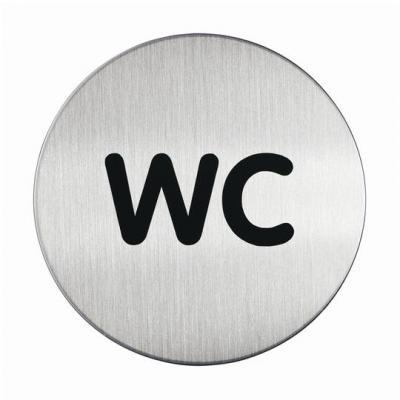 """Durable zelfklevend pictogram: PICTO """"WC"""", Metaal-Zilver"""