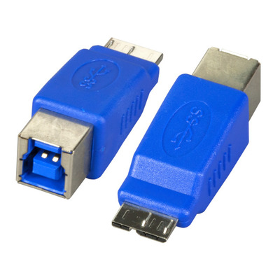 EFB Elektronik USB3.0-Adapter, Jack B - Plug Micro-B, blue Kabel adapter - Blauw