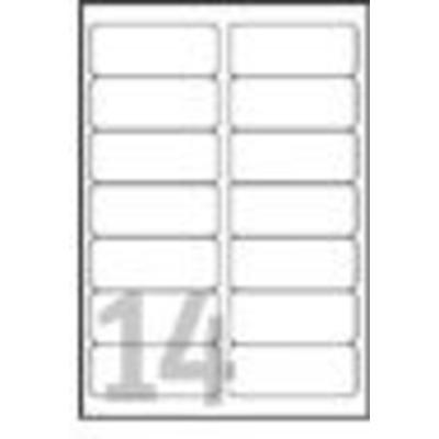 Avery adreslabel: White Address Label - Inkjet - J8163 - Wit