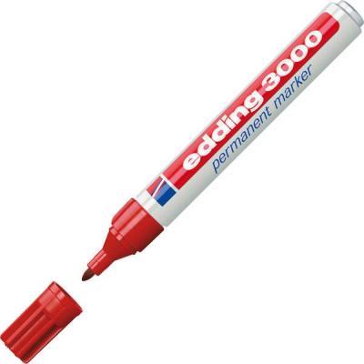 Edding marker: 3000 - Rood, Wit