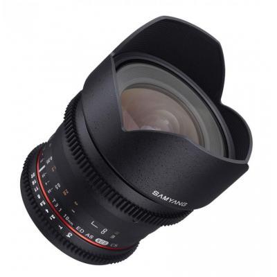 Samyang 10mm T3.1 ED AS NCS CS VDSLR Camera lens - Zwart