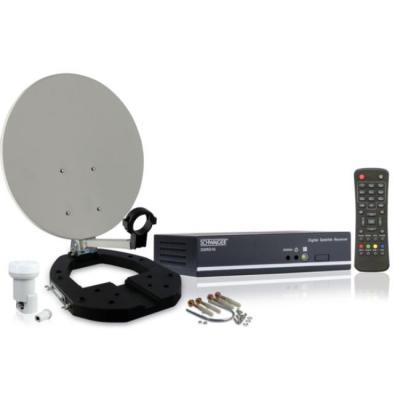 Schwaiger antenne: 1 x F jack, DiSEqC 1.0, DiSEqC 1.1, DiSEqC 1.2, USALS, 950 - 2150 MHz, 20 - 62 - Grijs