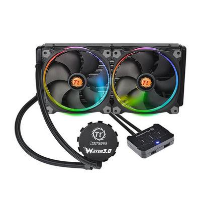 Thermaltake Water 3.0 Riing RGB 280 Water & freon koeling - Zwart