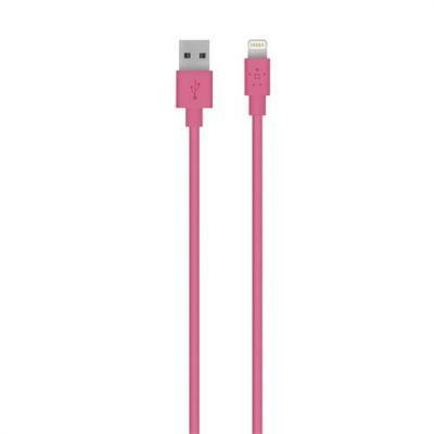 Belkin USB kabel: 3m, Lightning - USB - Roze