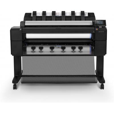 Hp grootformaat printer: Designjet DesignJet T2530 36-inch multifunctionele printer - Cyaan, Grijs, Magenta, Mat Zwart, .....