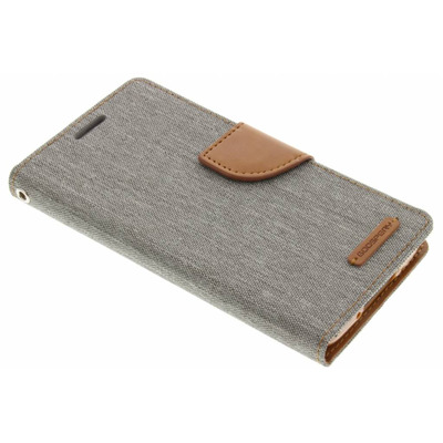 Canvas Diary Booktype Samsung Galaxy S5 (Plus) / Neo - Grijs Mobile phone case