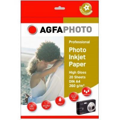 Agfaphoto fotopapier: 20sheets 260gr high glossy