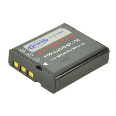 2-power batterij: Digital Camera Battery, Li-Ion, 3.7V, 1800mAh, Black - Zwart