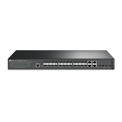 TP-LINK T2600G-28SQ, 24x SFP, 4x RJ-45, 4x 10G SFP+, RJ-45, Micro USB, 128 Gbps, 95.2 Mpps, VLAN, QoS, .....