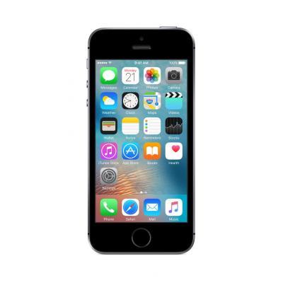Apple smartphone: iPhone SE 16GB Space Gray - Zwart, Grijs (Refurbished LG)