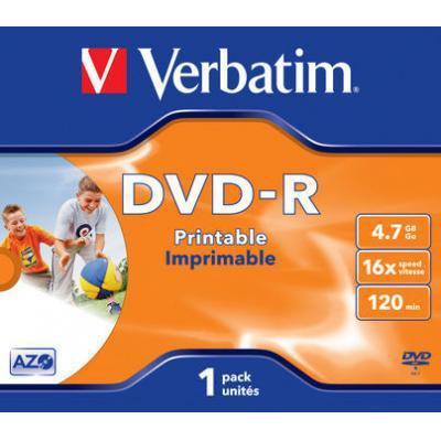 Verbatim DVD: DVD-R 4.7GB 16x 1 stuk